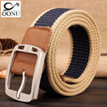HOT 2017 wholesale Real Solid brand Belt for Men Cinto men s Fashion Pin Buckle Canvas