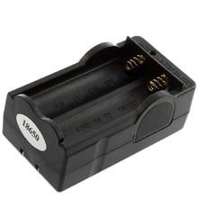 La Prueba de corto Circuito Cargador de Batería Para 18650 batería Recargable de Li-Ion Inteligente Dual Ranuras Cargador de Viaje Con Enchufe de Ee.uu.