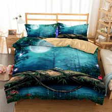HELENGILI 3D Bedding Set Forest dreamland Print Duvet cover set lifelike bedclothes with pillowcase bed set home Textiles #2-09(China)