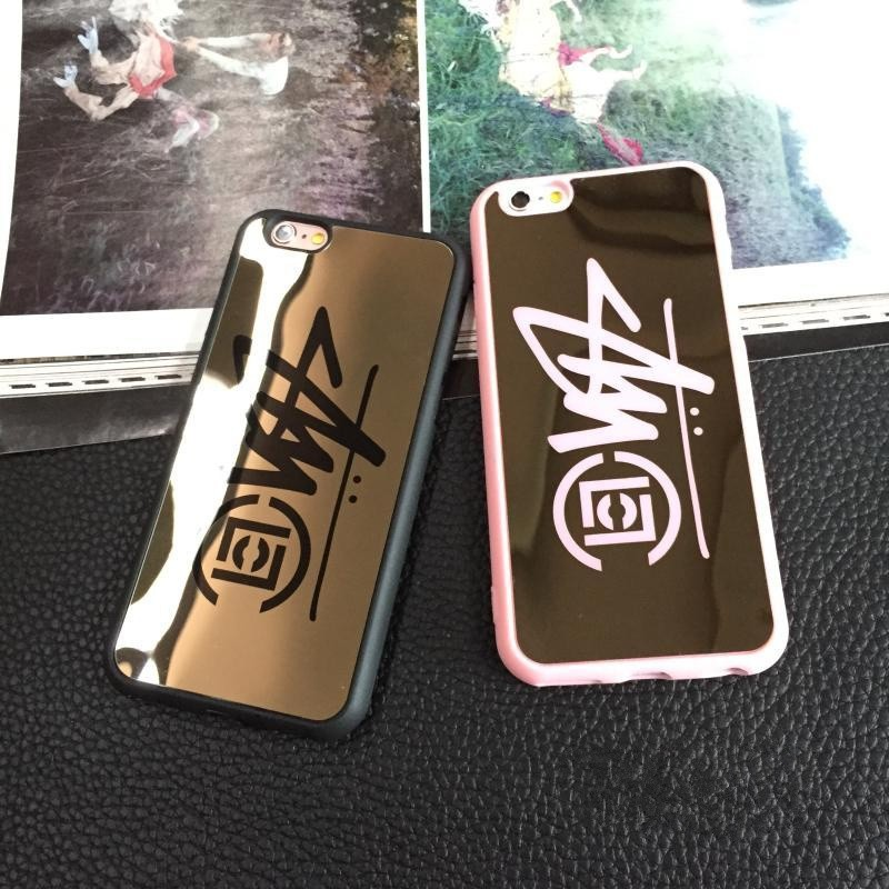 New Quality Goods USA Brand Mirror Clot Stussy logo Paris London New York PC case for iphone se 5 5s 6 6s plus cover funda coque