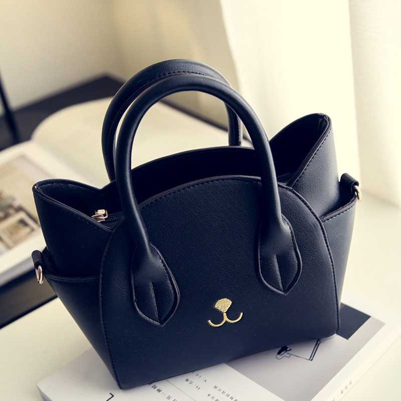 Women Fashion Handbags Cute Cat Shape Shoulder Bags Fashion Tote Female Pu Leather Messenger Crossbody Bags Bolsas Femininas(China (Mainland))