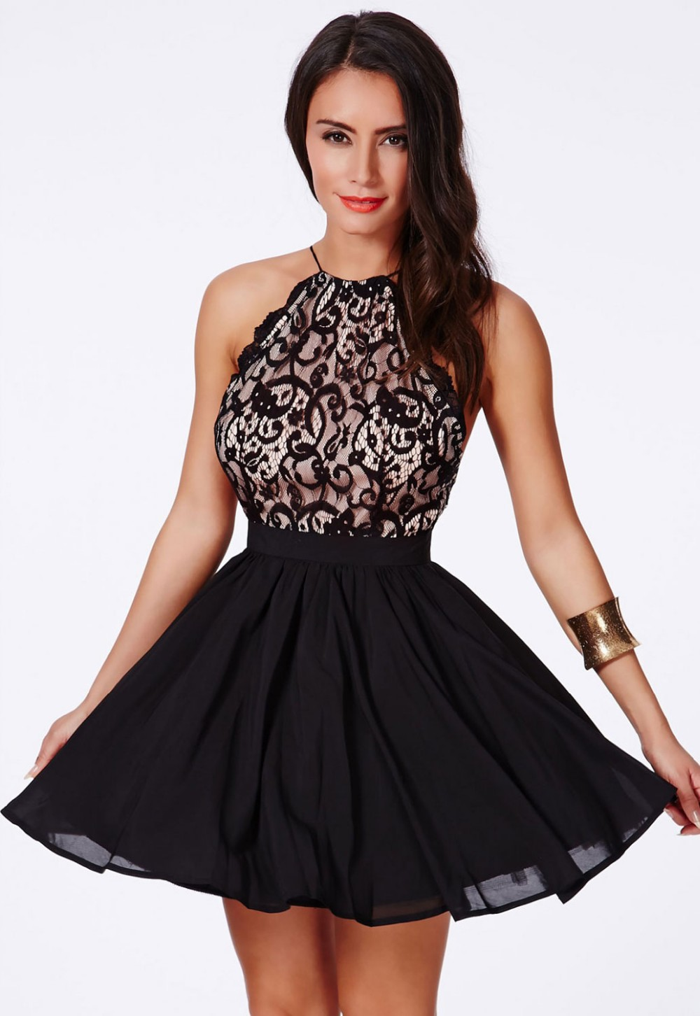 Short Black Halter Dress