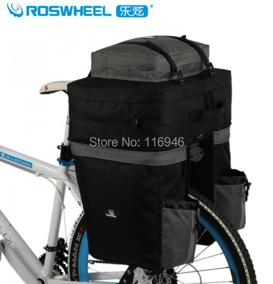 2015 Roswheel Bike Bicycle Rear Rack Expandable Panniers Cycle Travel Cycling Cargo Bag Pack,67L Rain Cover - Bella Sports Mall store