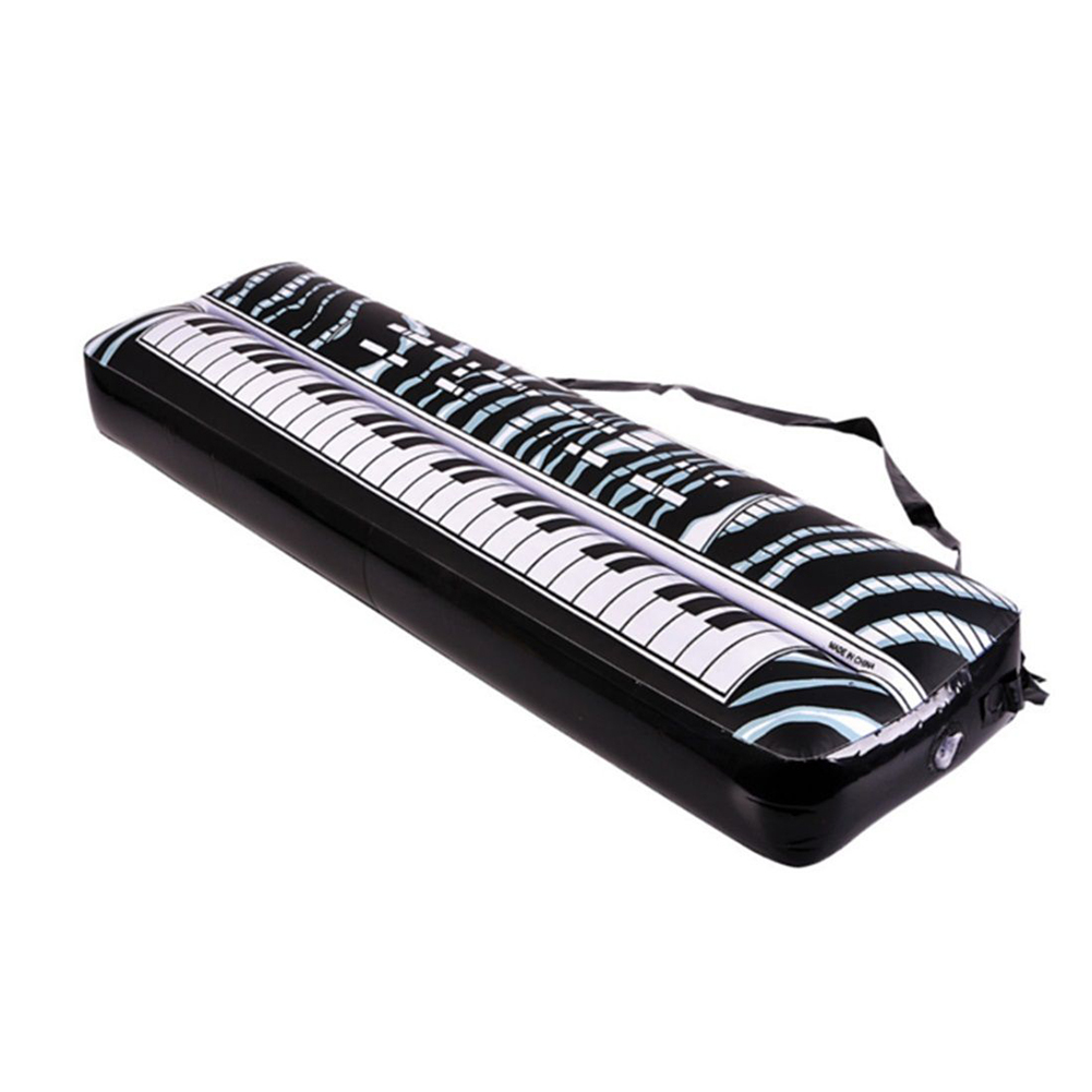 New Hot PVC Inflatable Keyboard Piano Musical Instrument Music Toy Children Kids Black and White Gift(China (Mainland))