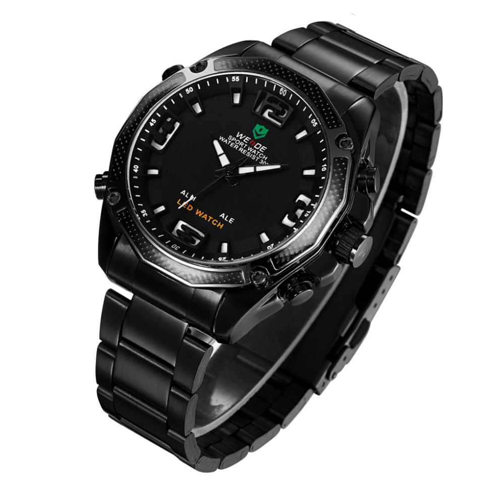 !WEIDE Military Multifunctional Male Clock Fashion Wristwatch Alarm LED Men Quartz 30 Meters Water Resistant watch - The global digital tesco store