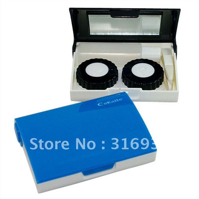Free shipping, simpleness style contact lenses case/lens Companion box set
