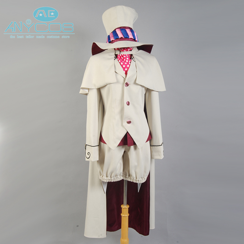 Blue Exorcist Ao No Exorcist Mephisto Pheles Uniform Suit Shorts Shirt Anime Halloween Cosplay Costume For Men Custom Made