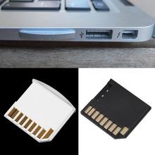 1 pcs Mini Curto SDHC TF Adaptador de Cartão SD Flash Drive para MacBook Air até 64G Preto Branco frete Grátis(China (Mainland))