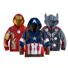 The Avengers 3-10yrs Boy's&Girls Fashion Jacket&Coat,Baby Boy's Thor Cosplay Jacket,Captain America jackets.Girls&Boys hoodies(China (Mainland))