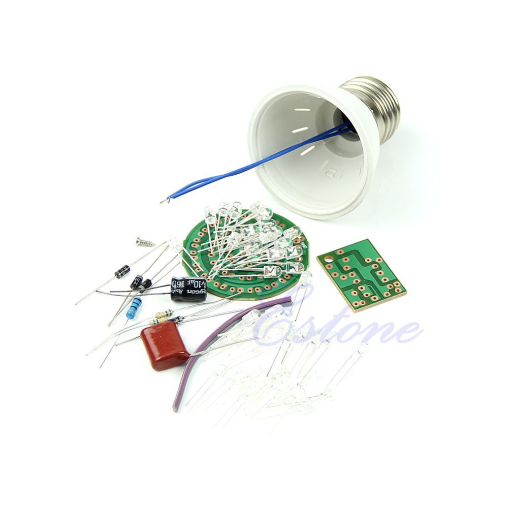 image for Free Shipping New Energy-Saving 38 LEDs Lamps DIY Kits Electronic Suit
