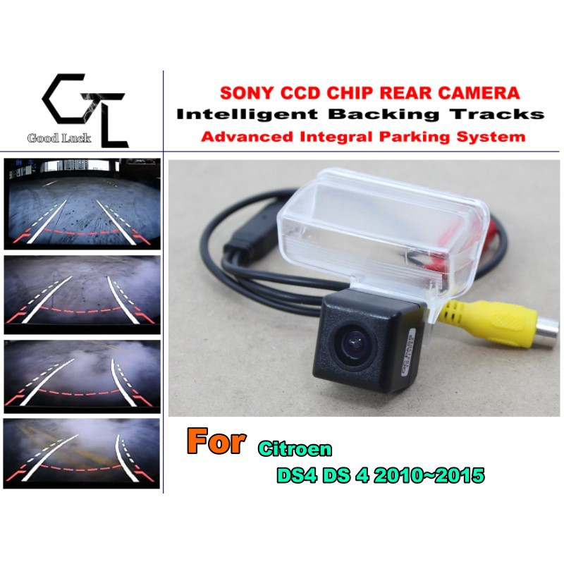 Smart Backing Tracks Camera / imports HD CCD Night Vision / Rear View Parking Reverse Camera For Citroen DS4 DS 4 2010~2015(China (Mainland))