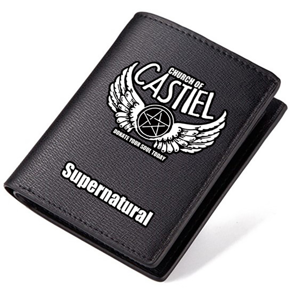 Super Nature Power Evil Demon Saving People Huntng Things Thriller Drama Sam Winchester Dean WB CW TV Station PU Leather Wallet(China (Mainland))