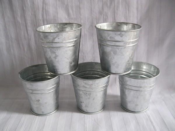 Shop popular mini galvanized buckets from china aliexpress for Galvanized metal buckets small