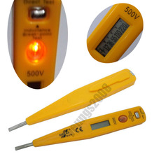 Lot 3 PCS Non-Contact Digital LCD Display AC 500V Voltage Pen Detector Tester Meter