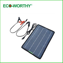 ECO-WORTHY 12 Volts 10 Watts Portable Power Solar Panel Battery Charger Backup for Car Boat with Alligator Clip Adapter(China (Mainland))