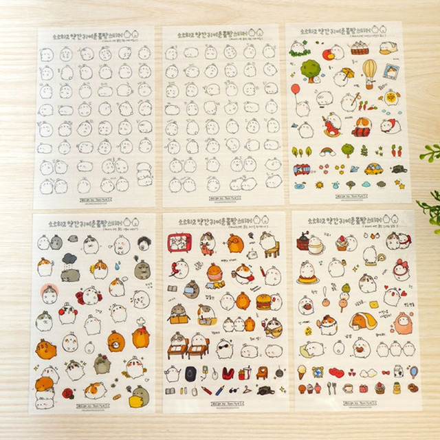 Cute Animals Sticker (6 pcs/lot)