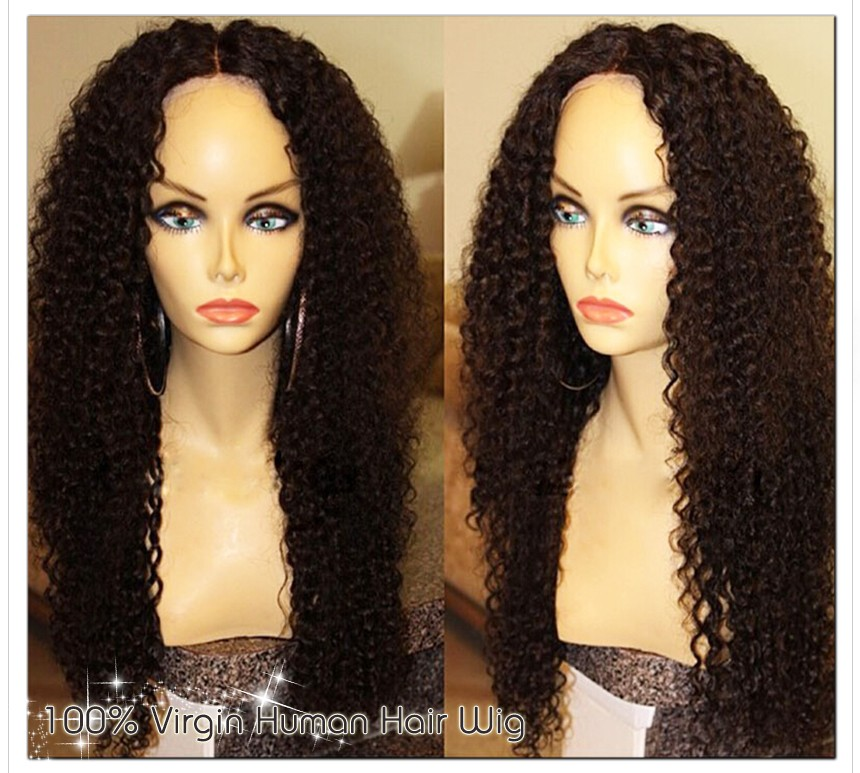 Free Shipping Natural Hair Line Free Part Full Soft Brazilian Virgin Long Thick Human Hair Lace Front Wigs With Baby Hair Around<br><br>Aliexpress
