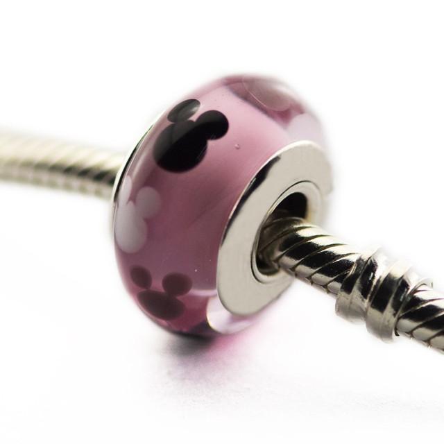 Новый горячая распродажа подходит пандора браслеты оригинал 925 бусины мышь иконка шарм ювелирных изделий DIY бусины оптовая продажа