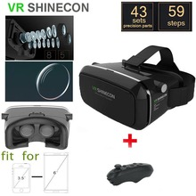 New Shinecon VR 2 Google cardboard Glasses VR BOX Virtual Reality 3D VR Glasses VR Headset Smartphone + Bluetooth Controller(China (Mainland))