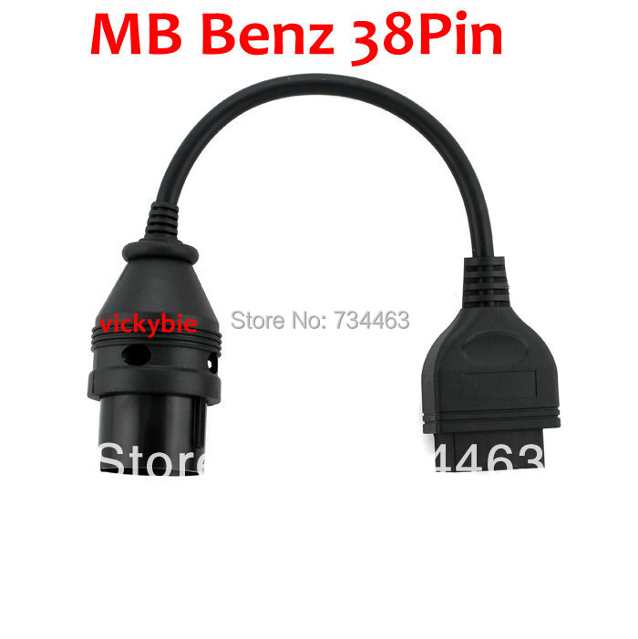 Mercedes Benz MB 38 Pin 38Pin Male to OBD OBD2 OBDII DLC 16 Pin 16Pin Female Car Diagnostic Tool Adapter Converter Cable(China (Mainland))