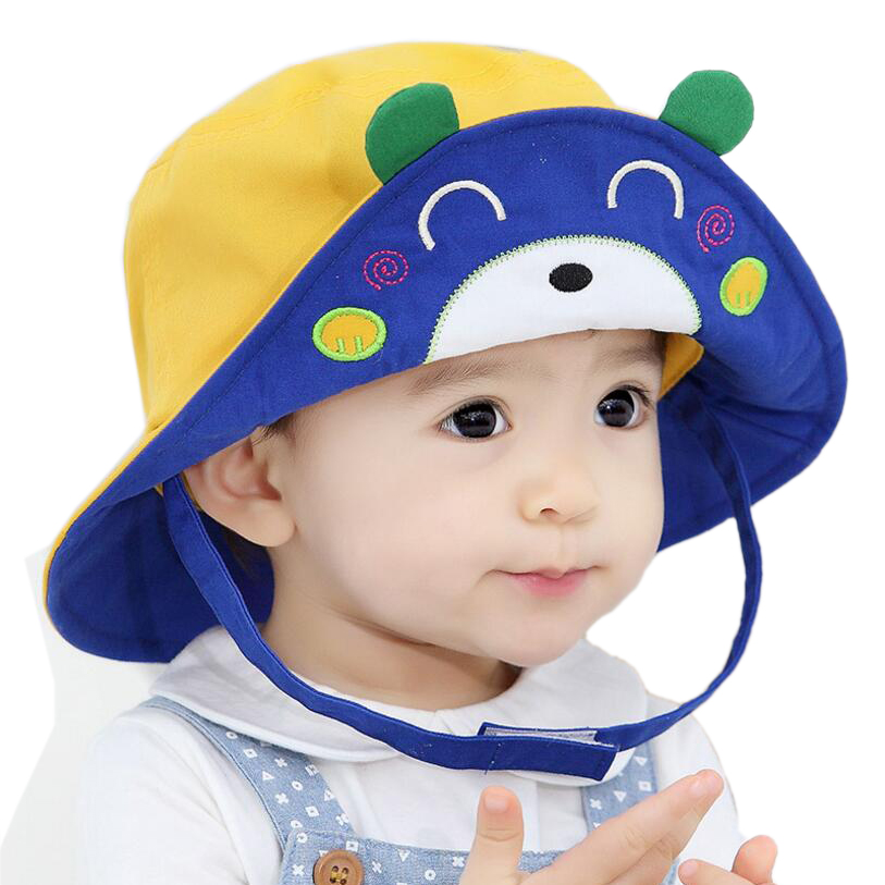 2016 New Arrival Baby Sun Hat Cap Child Photography Prop Spring Summer Outdoor Wide Brim Kids Baby Girl Boy Hat Beach Bucket Hat(China (Mainland))