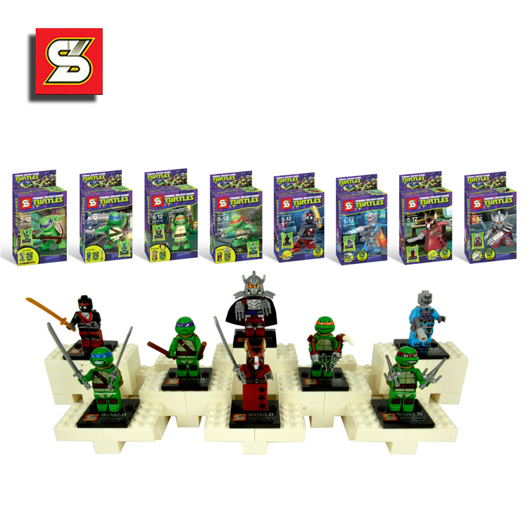 8SY176 Ninjago Turtles Minifigures DIY Building Blocks Learning & Education Baby Toy PROMOTION HOT SALE