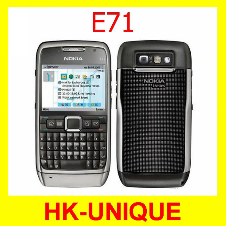 Original Unlocked Nokia E71 WIFI GPS JAVA 3G network multi language Mobile Phone Free Shipping(China (Mainland))