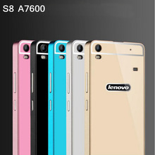 For Fundas Lenovo A7600 S8 Case Gold Luxury Aluminum Metal Frame Back Cover For Lenovo S8 A7600 A7600m A 7600 Phone Cases nh308