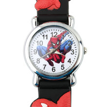 2016 Children Boys Spider Man Marvel Cartoon Kids Analog Quartz Wrist Watch Rubber Worldwide Store