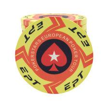 2020 Baru Ept Keramik Chip Poker Kit Eropa Poker Tour 39*3.3 Mm 10G/80*50 MM 42G(China)