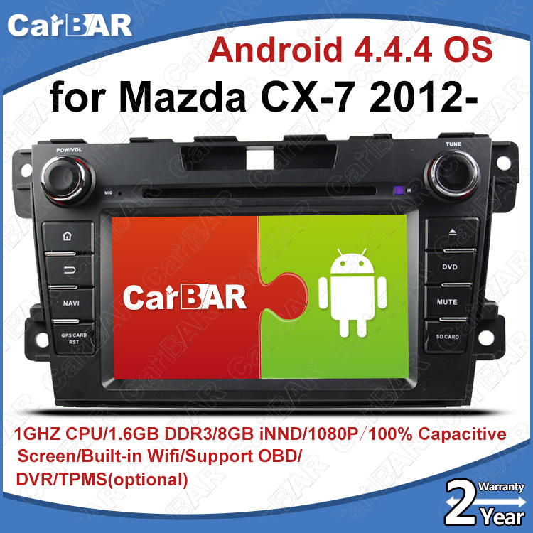 Автомобильный DVD плеер CARBAR C100 4.4.4 DVD GPS Mazda cx/7/usb SD IPOD WIFI 3G DVR