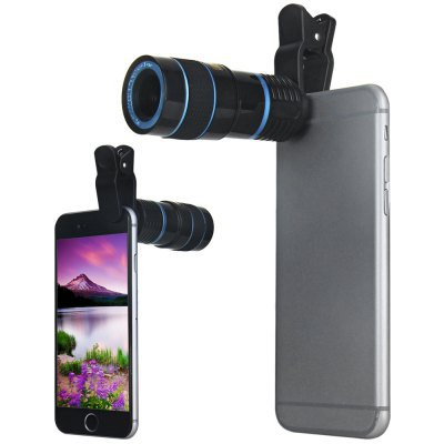 Universal Clip 8X Prime Telescope Lens for iPhone 6 iPad Nokia Motorola LG Sony Samsung S6 Galaxy S6 Edge HTC Notebook PC(China (Mainland))