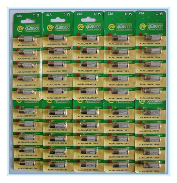 50 x 12V 23A ALKALINE BATTERY A23 A-23 GP23A RV08 LRV08 E23A V23GA MN21 Vr22 MS21 23AE 8F10R 8LR23 8LR932 CA20 K23A L1028 RVO8(China (Mainland))