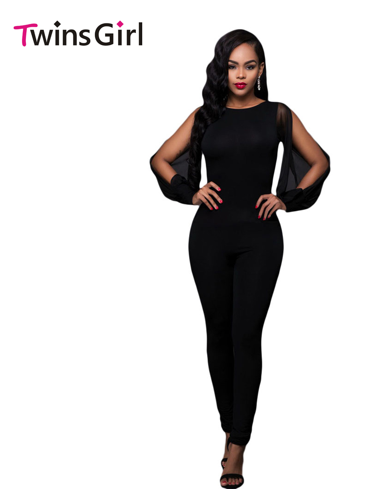 Online Get Cheap Black Jumpsuit with Splits -Aliexpress.com ...