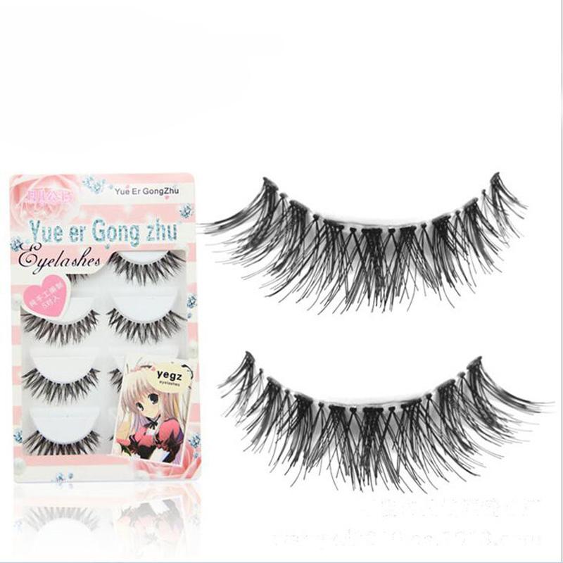 10 Pairs Real Thick cross Lashes False Eyelashes Cross the messy styles Handmade Eyelash eye lashes(China (Mainland))