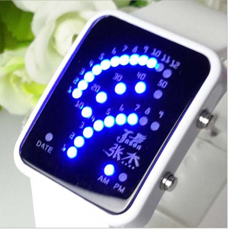 New Fashion LED Watches Watch Touch Srceen Wristwatches Night boys girls Light White or Black Clock Quartz for men Women Digital(China (Mainland))