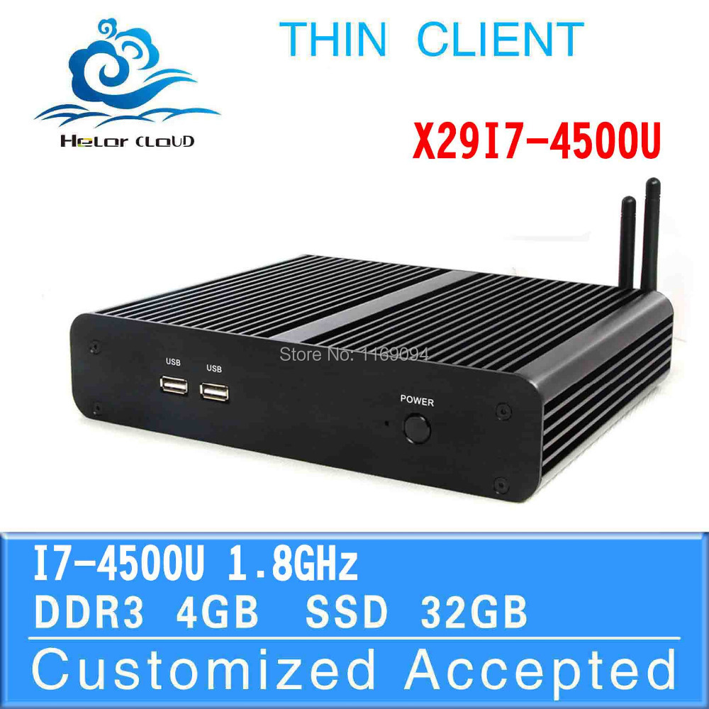 Low power low heat X29-I7 4500U 4G RAM 32G SSD ubuntu mini pc fanless linux server pc desktop computer Support embedded(China (Mainland))