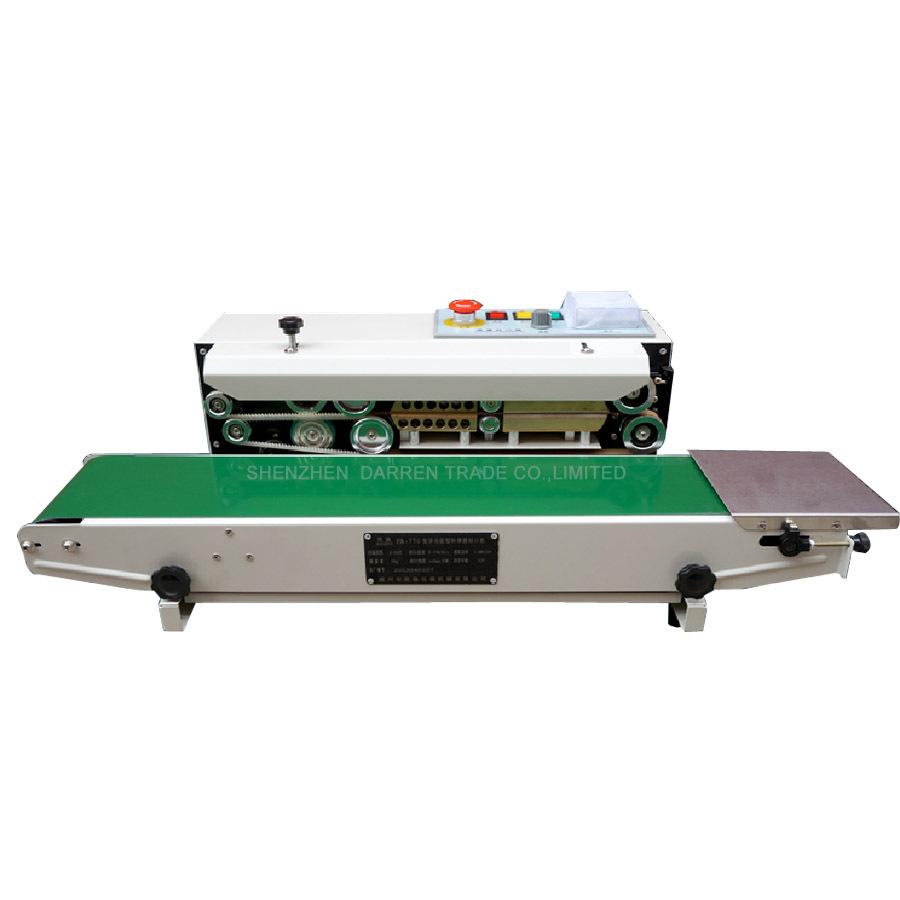 Free by DHL FR-770 Continuous film sealing machine plastic bag package machine band sealer horizontal heating sealing machine(China (Mainland))