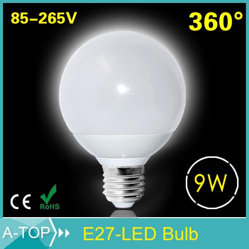 2015 1PCS New Arrival Led Light E27 Lamps 85-265V 5730 SMD Ball Bulb Ultra Bright 9W Wide Voltage 220V 110V Care Eye Lighting(China (Mainland))