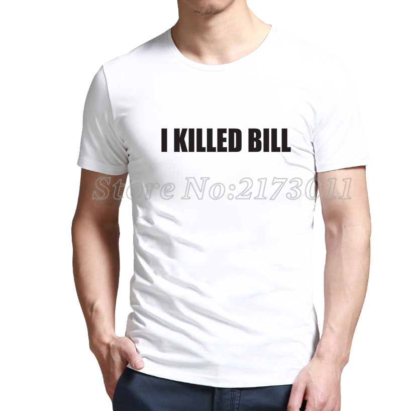 2016 Limited Rushed Fashion Short Polyester Spandex Print No Broadcloth Discount Tee O-neck I Killed Bill T-shirt Outlet Shop(China (Mainland))