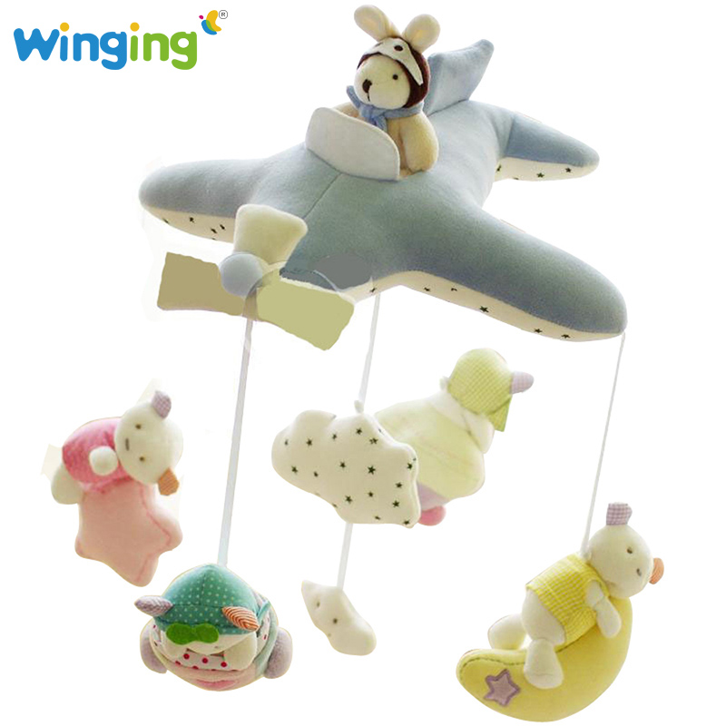 Wingkids Baby Crib Musical Mobile Cot Bell Music Box with Holder Arm Easy Install Rattle Toy Newborn Gift Learning&Education Toy(China (Mainland))