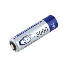 1 pc BTY Ni-MH AA 3000mAh 1.2V Rechargeable Battery NiMH Tip Head Batteries Baterias Bateria For Flashlight Torch Camera MP3