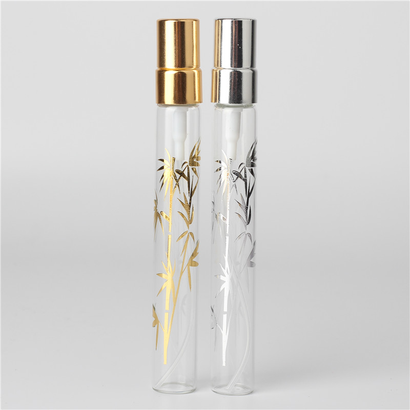 6Pcs 10ml clear bamboo crystal glass perfume spray bottle atomizer sample can be filled empty(China (Mainland))