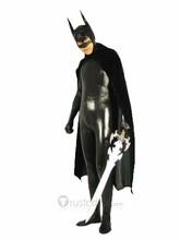 Black Shiny Metallic Batman Catsuit (Z178)(China (Mainland))