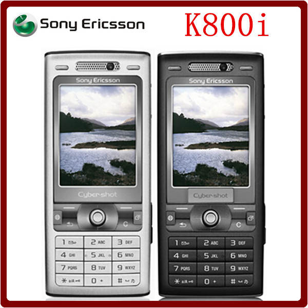 K800i Original Unlocked Sony Ericsson K800i 3G GSM Tri-Band 3.2MP Camera Bluetooth FM Radio JAVA Cell Phone Free Shipping(China (Mainland))