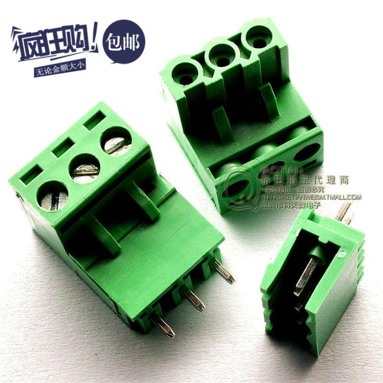 Straight pin plug -in terminal KF2EDGK PCB terminal 300V/15A 5.08MM KF-3P(China (Mainland))