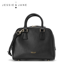 JessieJane Designer Brand Women handbags Houndstooth/ Leather Top-handle Bags Jessie Style 1219
