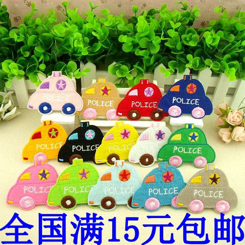 Child cloth attached computer embroidery patch stickers adhesive embroidery 14 beetle b30(China (Mainland))