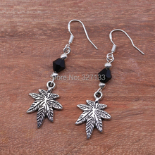 Fashion 10 Pair Crystal Tree Dangle Earrings For Women Fashion Vintage Drop Earrings Antique Silver Jewelry 925 Hook S5907(China (Mainland))