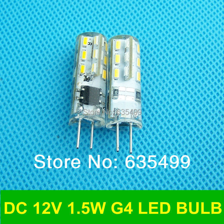 DC 12V 1.5W 10pcs/lot Dimmable G4 3014chip led Silicon lamp 360 Degree FREESHIPPING(China (Mainland))